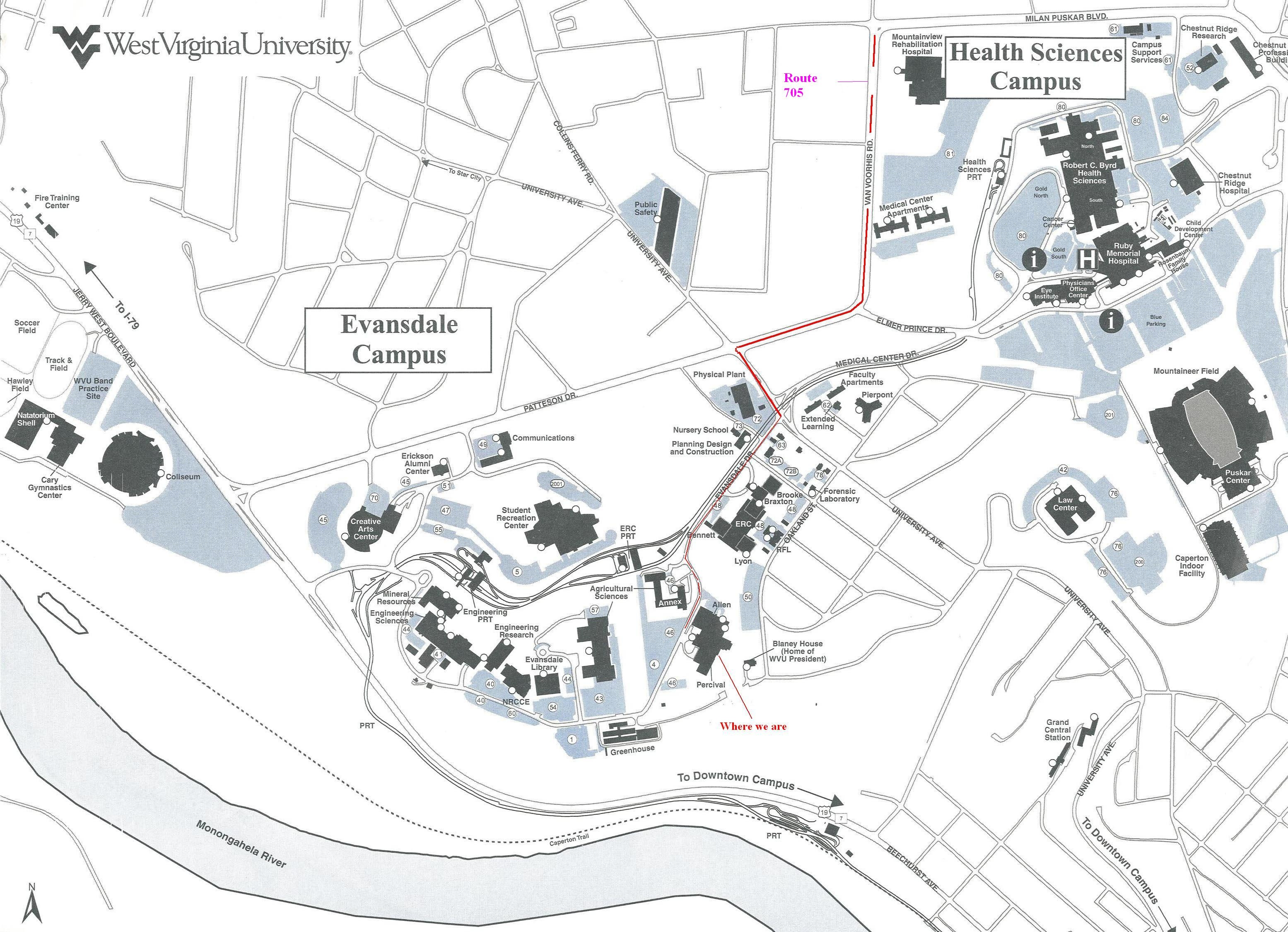 Downtown Campus Map Wvu.Other Resources Department Of Forensic And Investigative Science